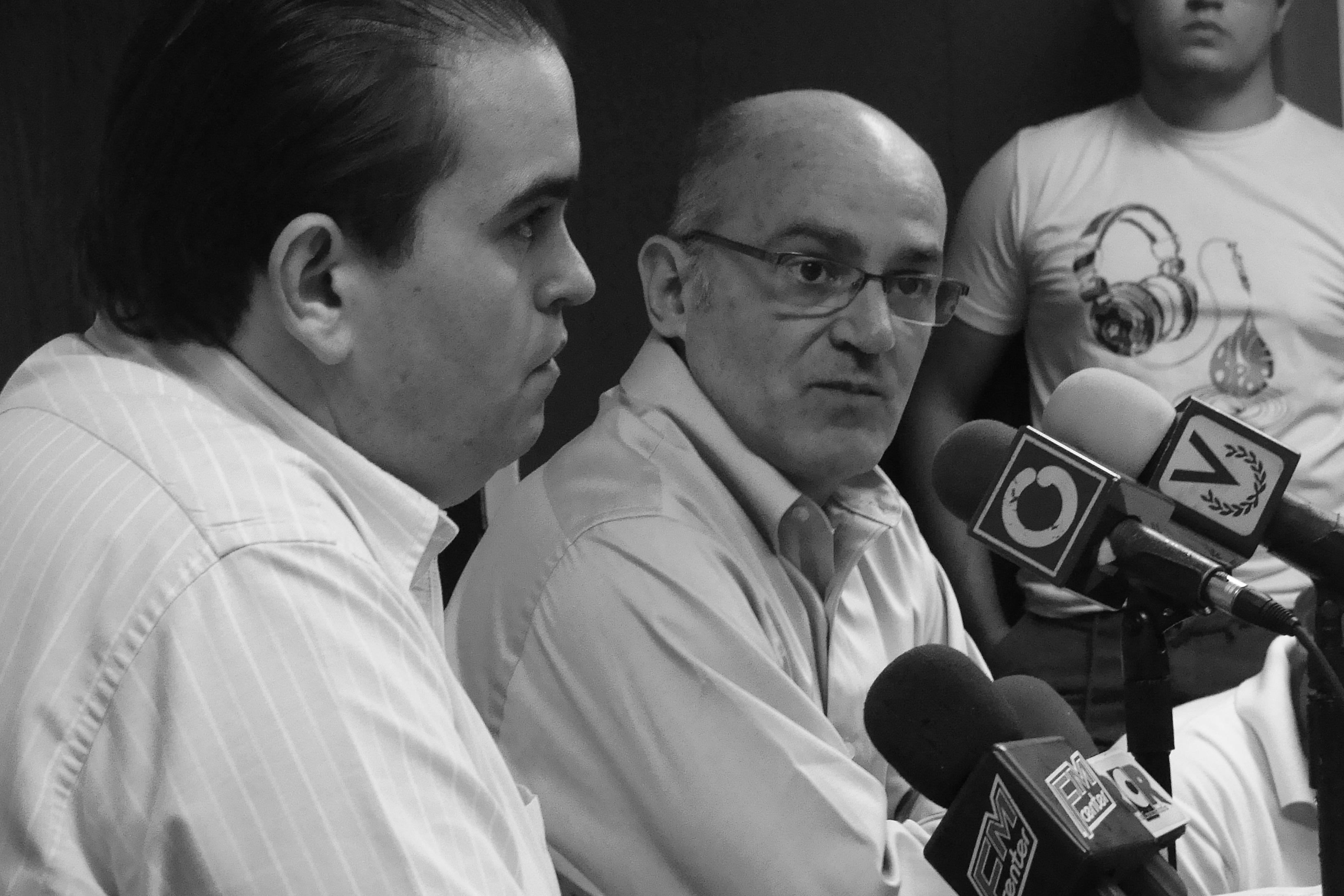 Carlos Correa y Feliciano Reyna, representantes del Foro por la Vida y Sinergia