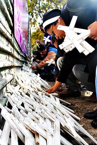 Cruces por los migrantes. CC