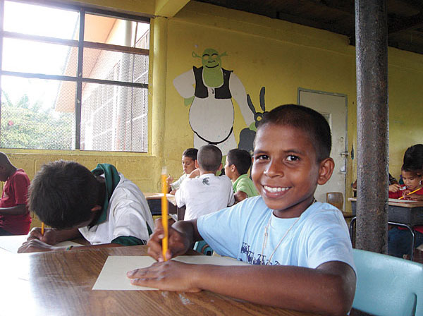 Centro de rehabilitación de niños de la calle en Honduras