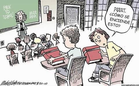 caricatura educación