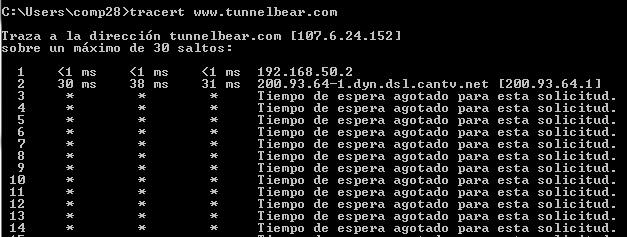 traceroute venezuela