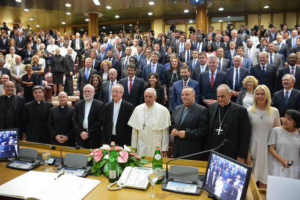 papa Francisco y Alcaldes del mundo