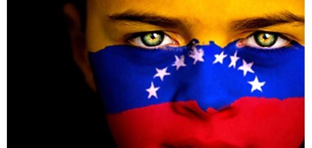 Bandera de Venezuela en rostro