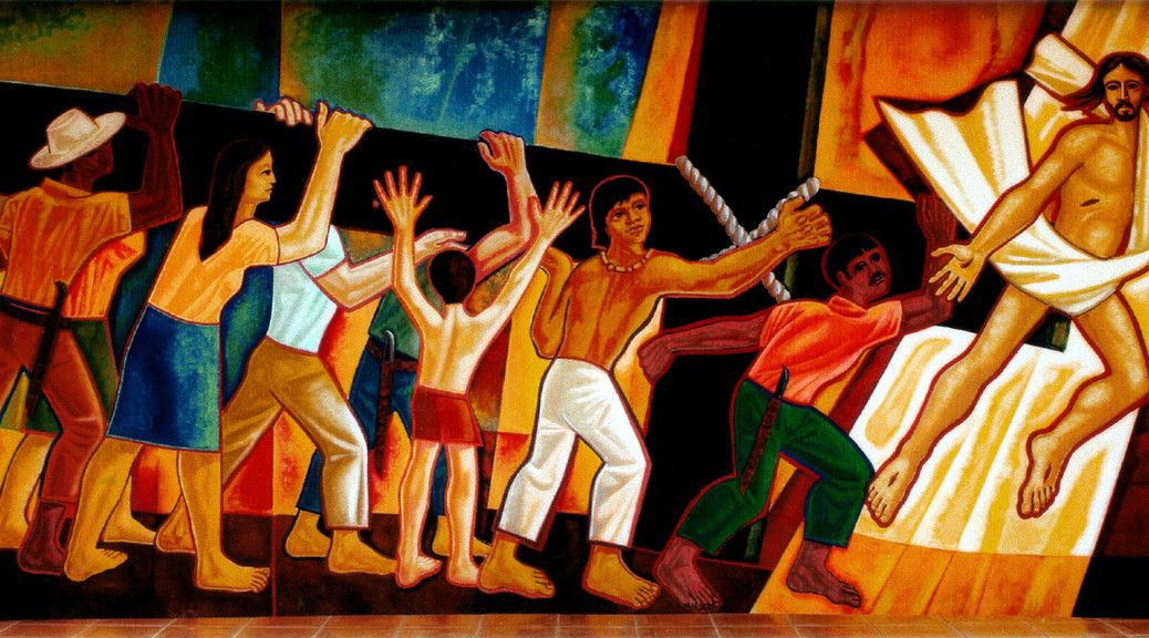 Mural latinoamericano y cristiano