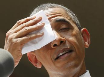 Obama sudando