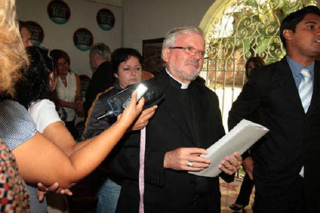 Nuncio apostólico Aldo Giordano FOTO VENANCIO ALCÁZARES