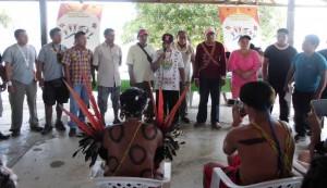 Representantes de las organizaciones del pueblo Ye´kwana
