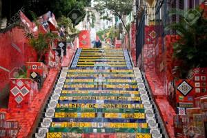 Selaron's Stairs (Escadaria Selarón), Rio de Janeiro, Brazil