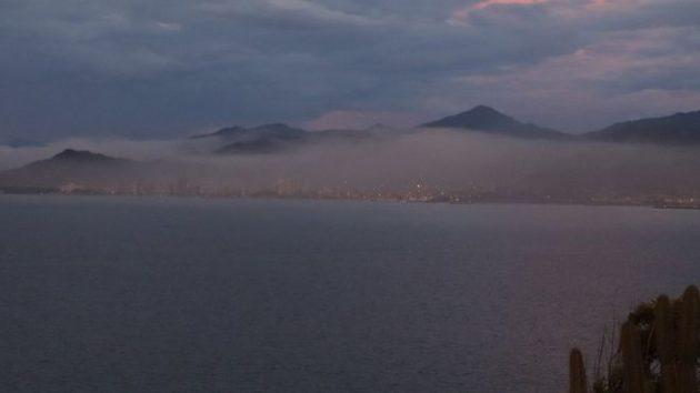 Nube de contaminación en Guanta