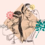 Ilustraciión derechos de mujeres indígenas