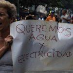 Protesta por agua y electricidad en Venezuela